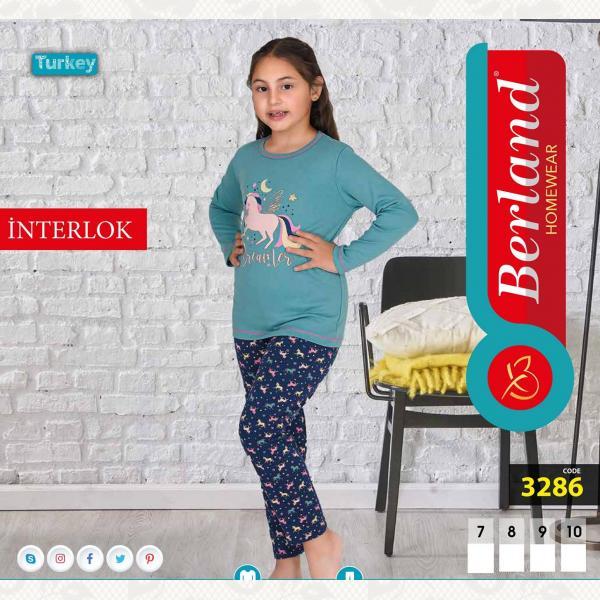 Домашний костюм для девочки, цвет standart с фото, 3286