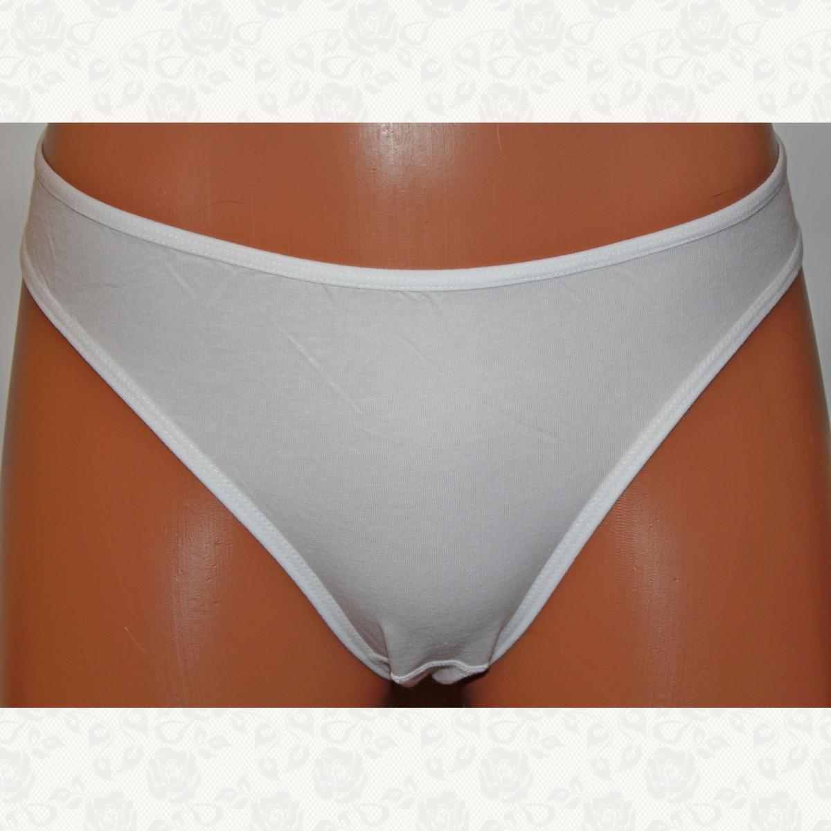 Трусики женские полубатал, цвет белый, 10 шт.