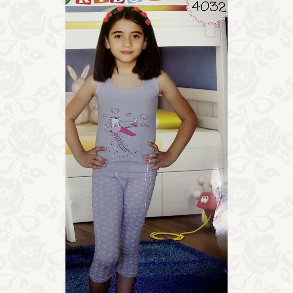 Пижамка для девочки, цвет ассорти, 2 шт., 4032