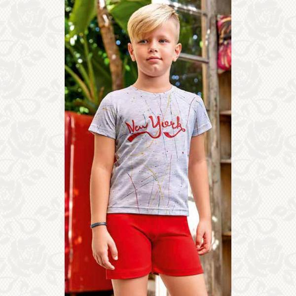 Пижамка для мальчика , цвет серый с фото, 2 шт., 5359