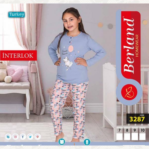 Домашний костюм для девочки, цвет standart с фото, 3287