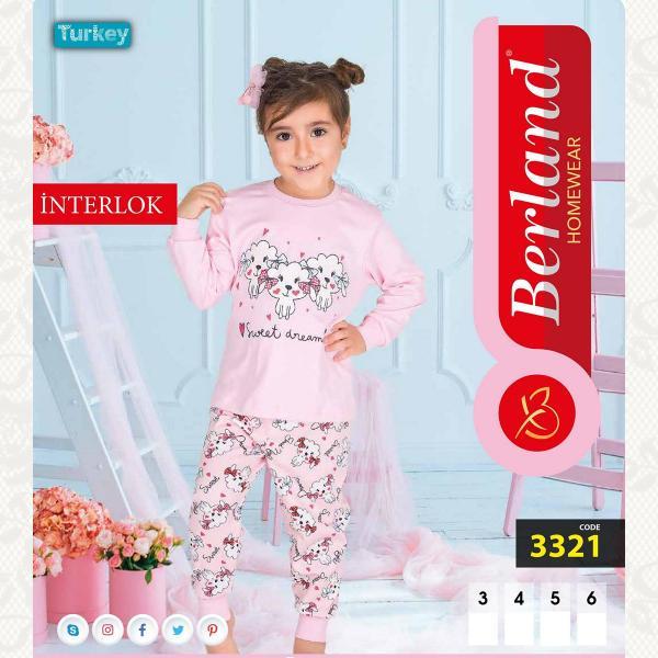 Домашний костюм для девочки, цвет розовый с фото, 3321