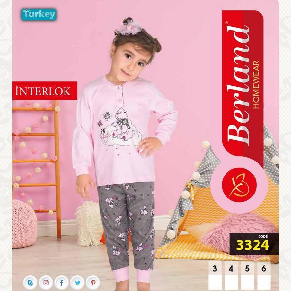 Домашний костюм для девочки, цвет розовый с фото, 3324