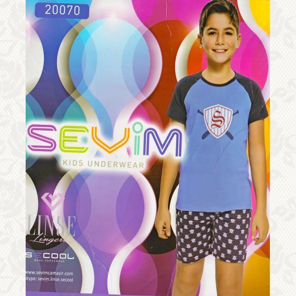 Пижама для мальчиков, цвет синий с фото, 2 шт., 20070