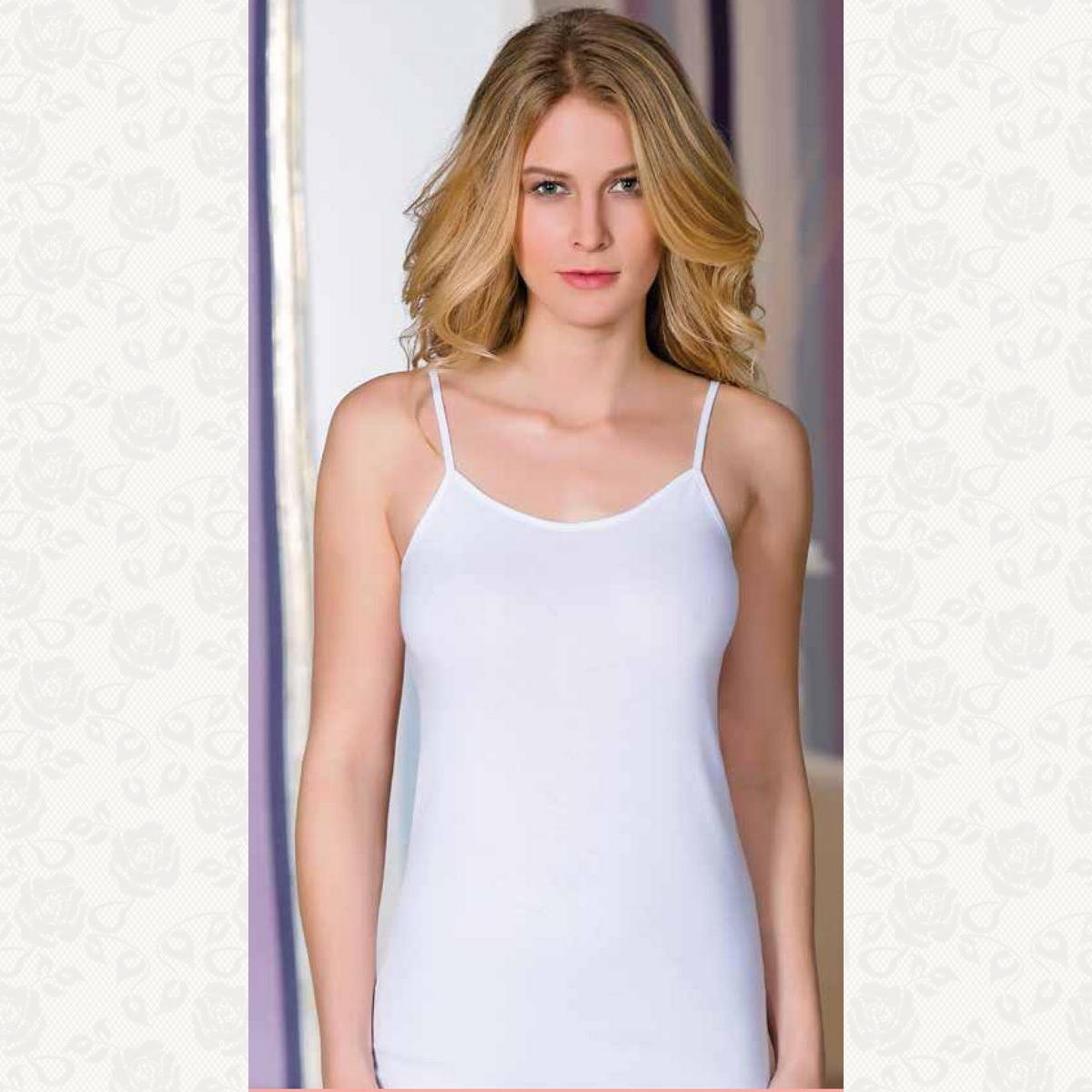 Майка классика berrak, цвет белый с фото