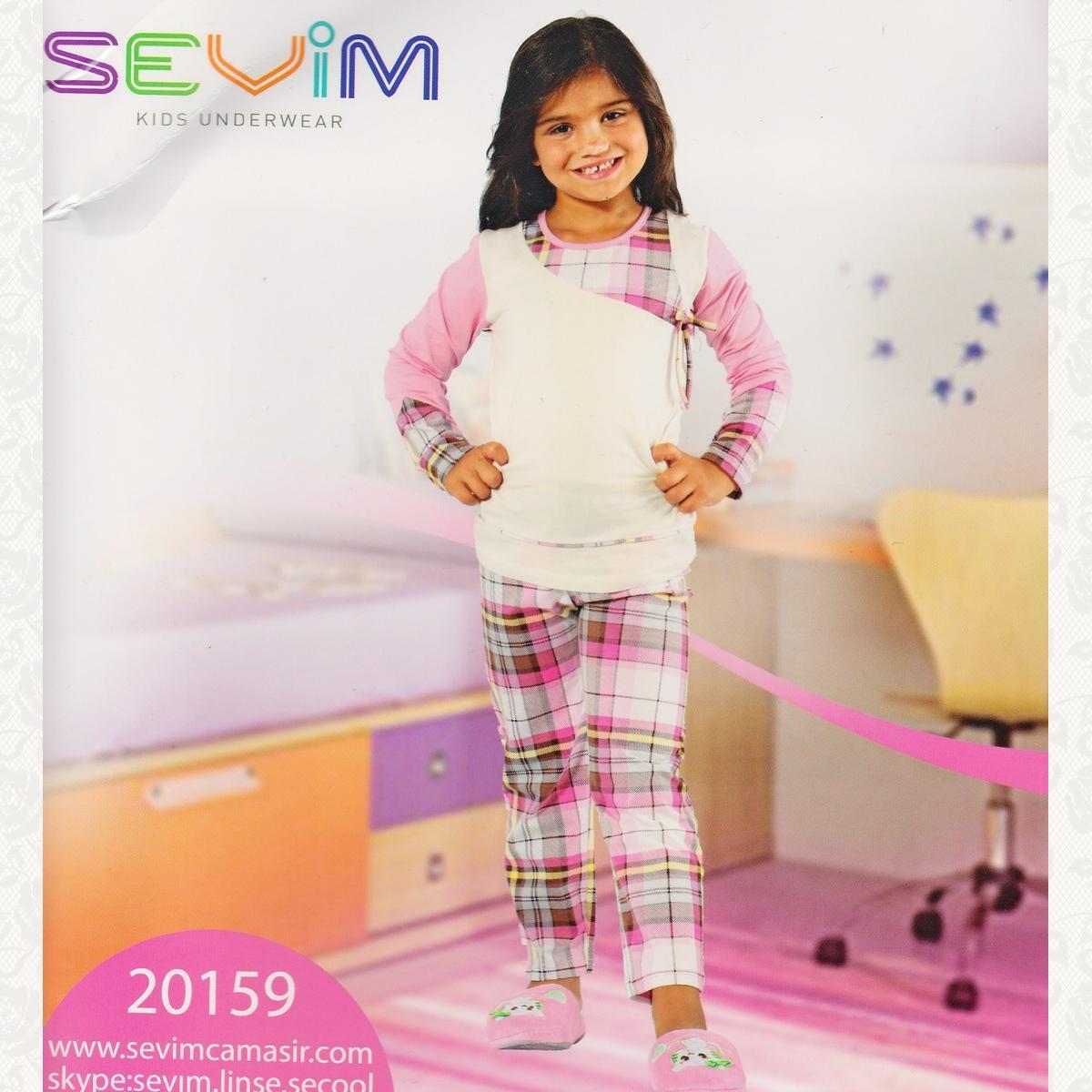 Пижама для девочки, цвет бело-розовый с фото, 2 шт.
