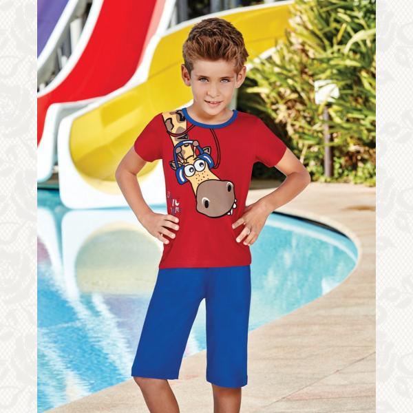 Пижама для мальчикаю,модель крупномерит, цвет красный, 5315