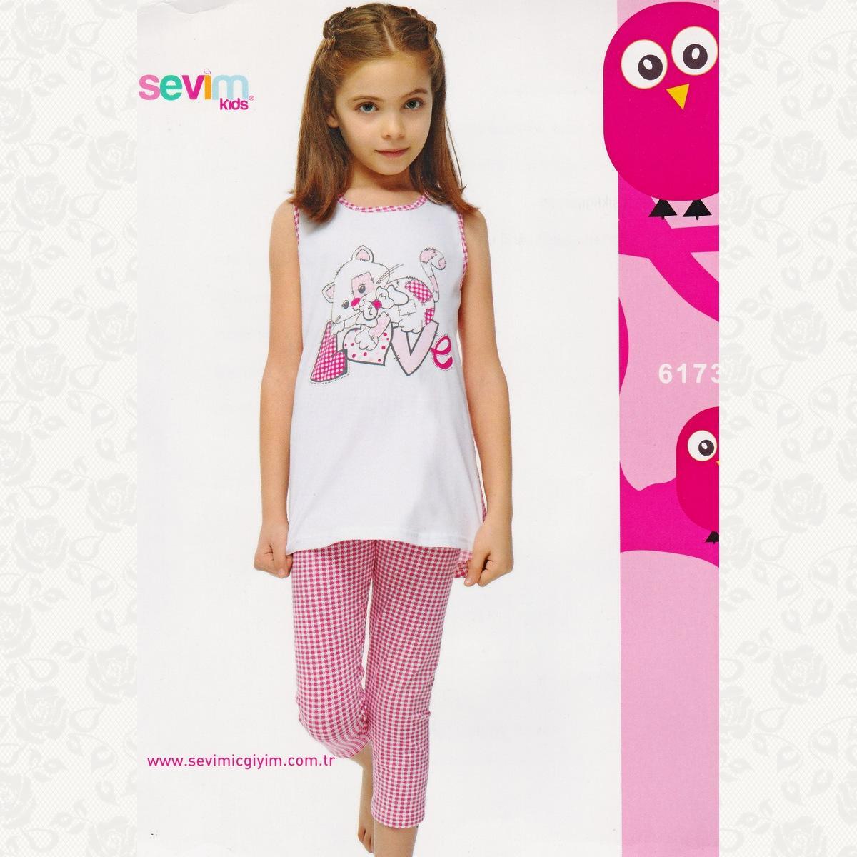 Комплект девичий, цвет бело-розовый с фото, 2 шт.