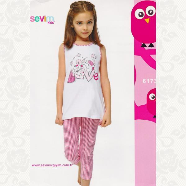 Комплект девичий, цвет бело-розовый с фото, 2 шт., 6173