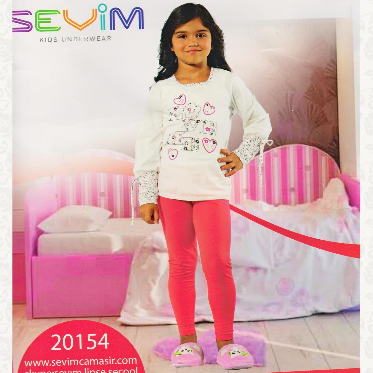 Пижама для девочки, цвет белый с фото, 2 шт.