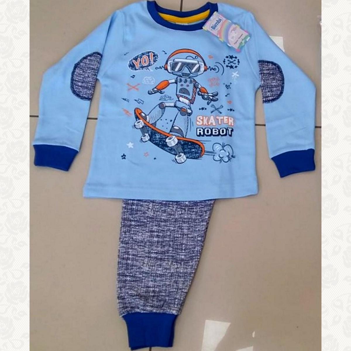 504 пижама для мальчика ростовка от 1 года до 5 лет, цвет голубой, 5 шт.