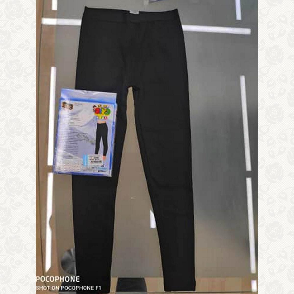 Термо лосины, цвет черный с фото, 2 шт.
