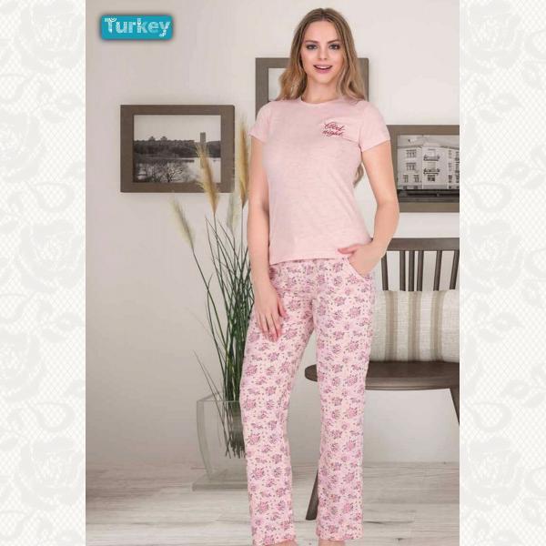 Домашний костюм, цвет розовый с фото, 3190