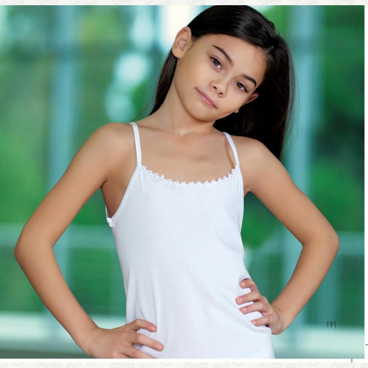 Майка девочка в индивидуальной уп. с фото, цвет белый с фото, 6 шт.