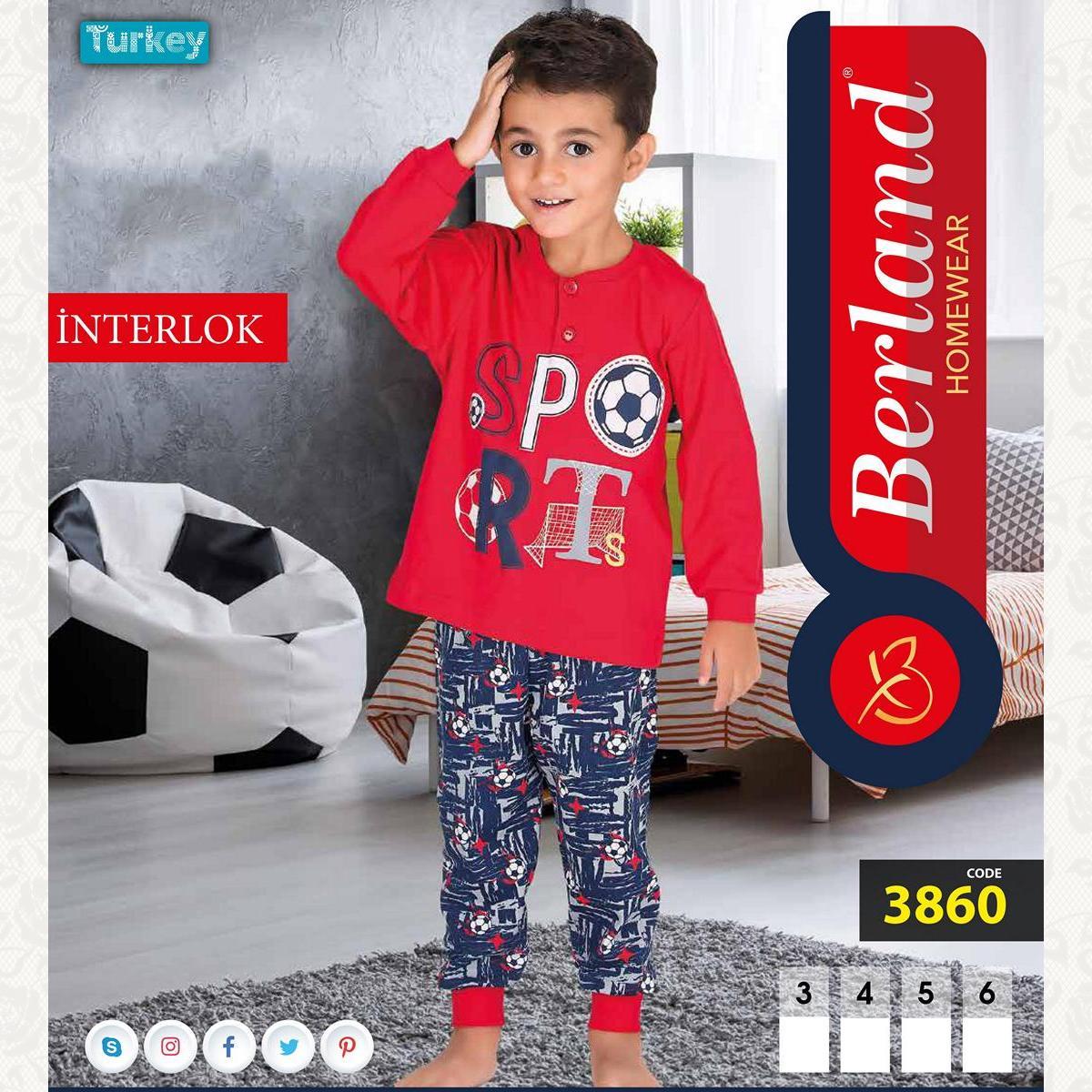 Домашний костюм для мальчика, цвет красный с фото