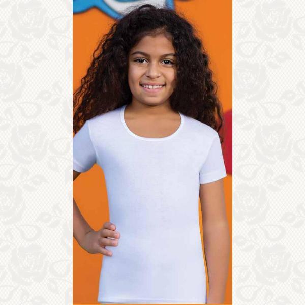 Футболка для девочки размер 1-4, цвет белый, 6 шт., 2508