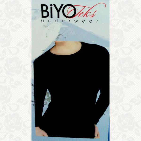 Термокофта женская, цвет черный, 2 шт., 8001