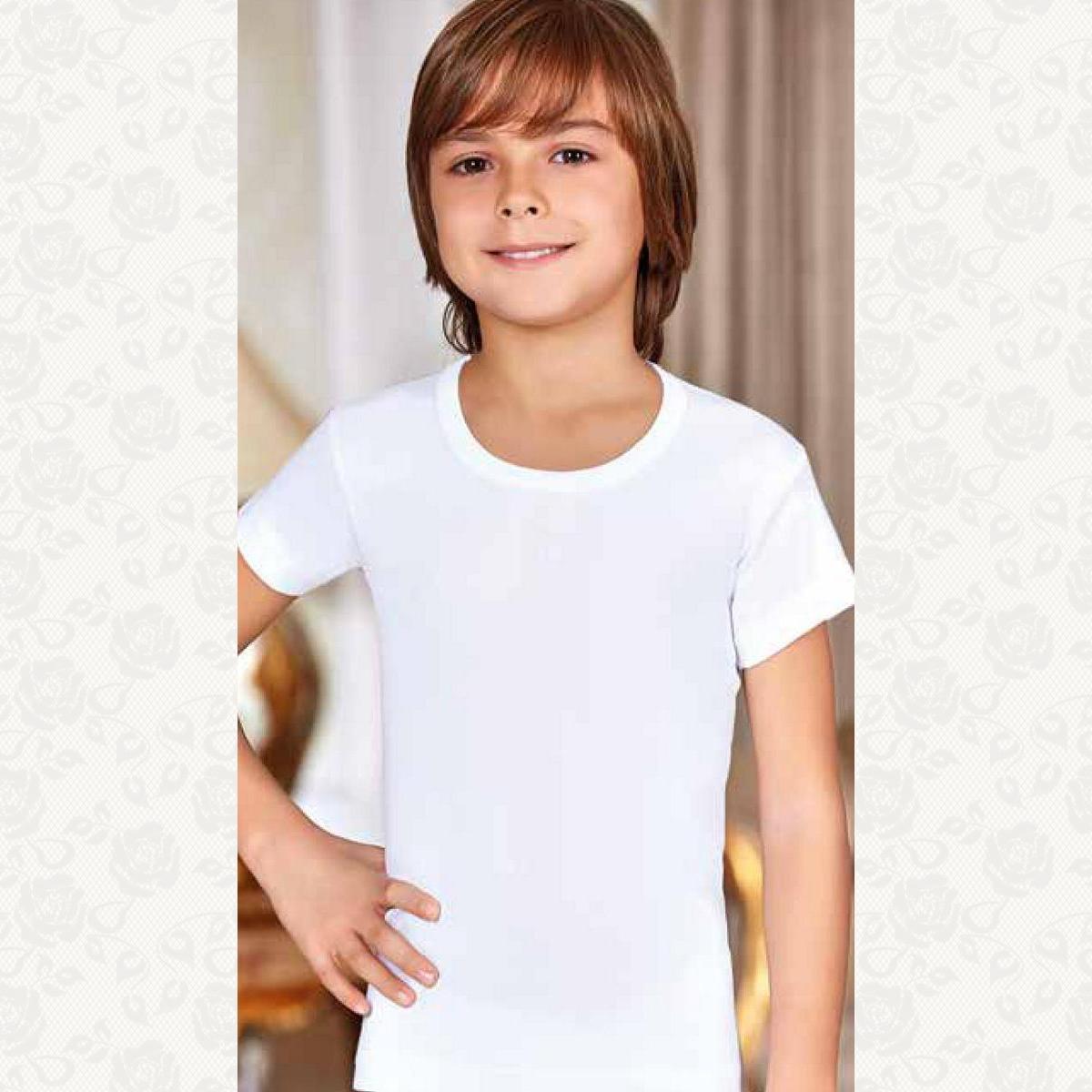 Футболка для мальчиков и девочек розмір від 7 до 8, цвет белый, 6 шт.