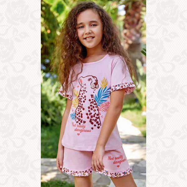 Комплект домашний, цвет розовый с фото, 5524