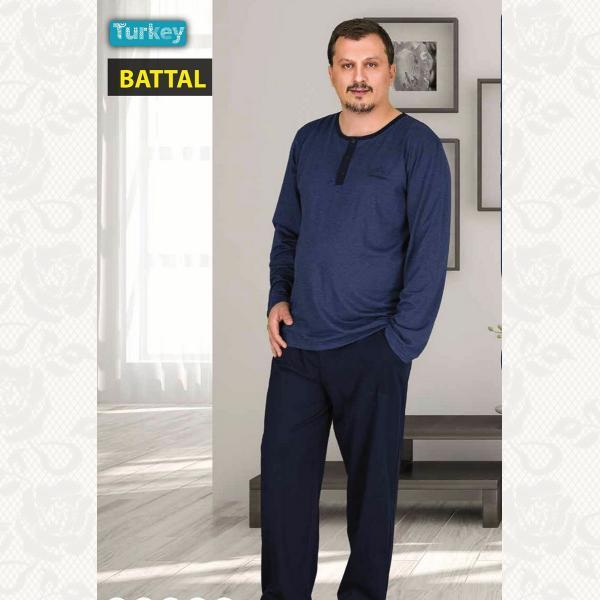 Батал домашний костюм, цвет джинс с фото, 3778