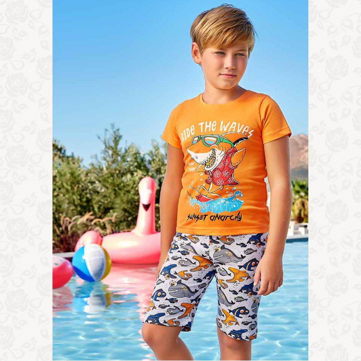 Домашний комплект для мальчика, цвет оранжевый с фото