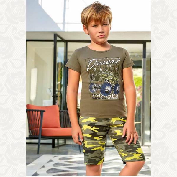 Домашний комплект для мальчика, цвет светло зеленый с фото, 5379