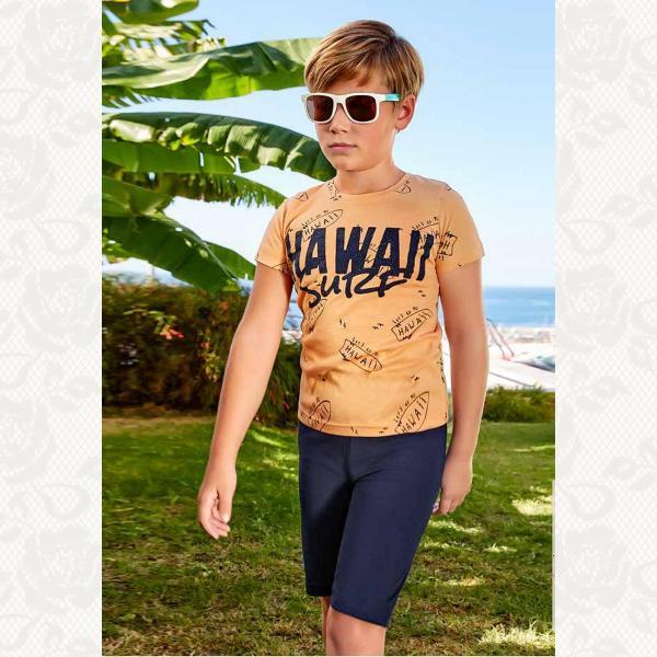 Домашний комплект для мальчика, цвет персиковый с фото, 5382