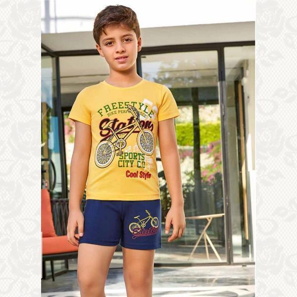 Домашний комплект для мальчика, цвет желтый с фото, 5387