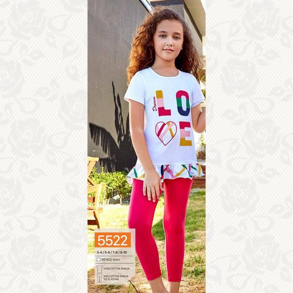 Домашний комплект для девочки, цвет белый с фото, 5522