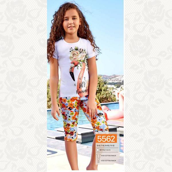 Домашний комплект для девочки, цвет белый с фото, 5562