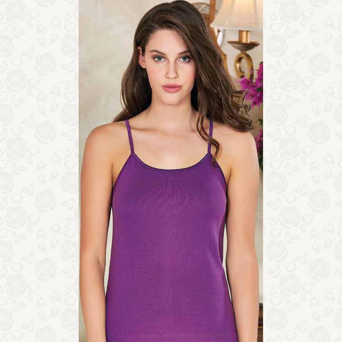Майка женская цветная полубатал berrak, цвет фиолетовый, 3 шт.