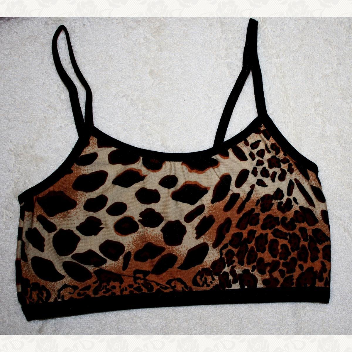 Топ девичий, цвет леопард, 12 шт.