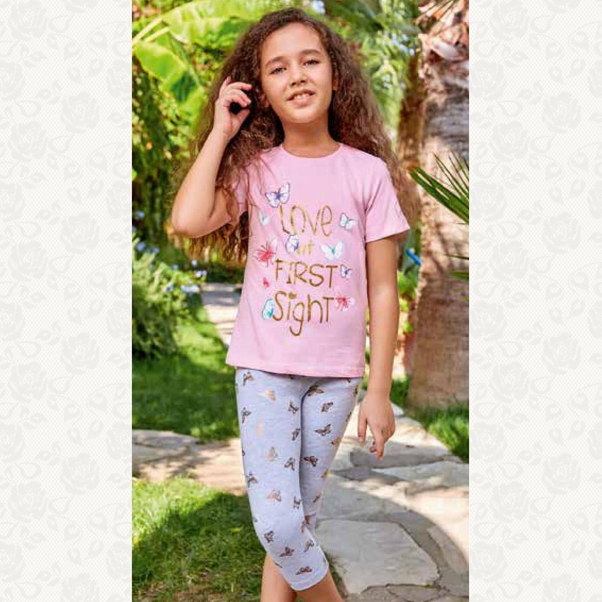 Домашний костюм для девочки, цвет розовый с фото
