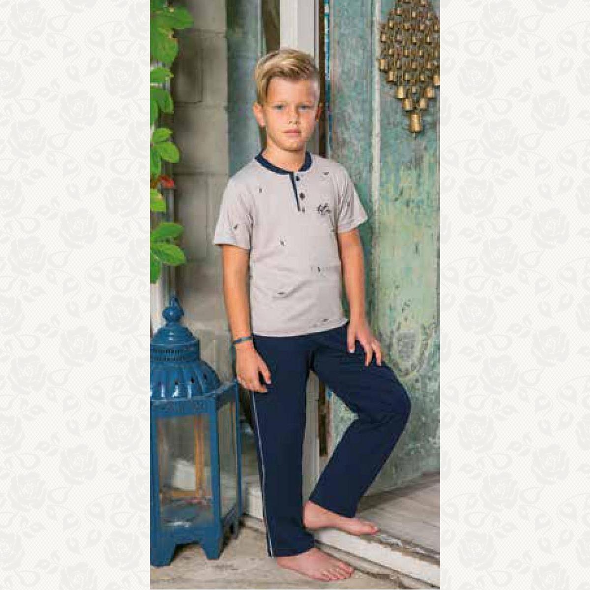 Домашний костюм для мальчика, цвет бежевый с фото