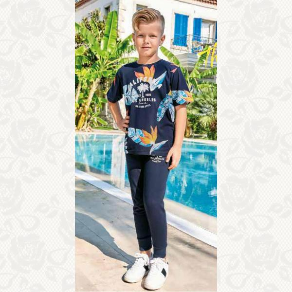 Домашний костюм для мальчика, цвет синий с фото, 2 шт., 939