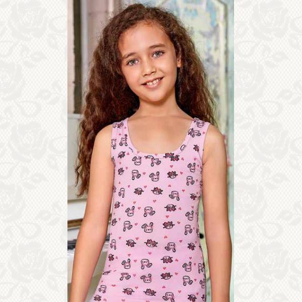 Майка для девочек, цвет стандарт, 6 шт., 6010