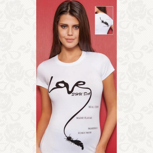 "Футболка ""LOVE"", цвет белый, 8007"