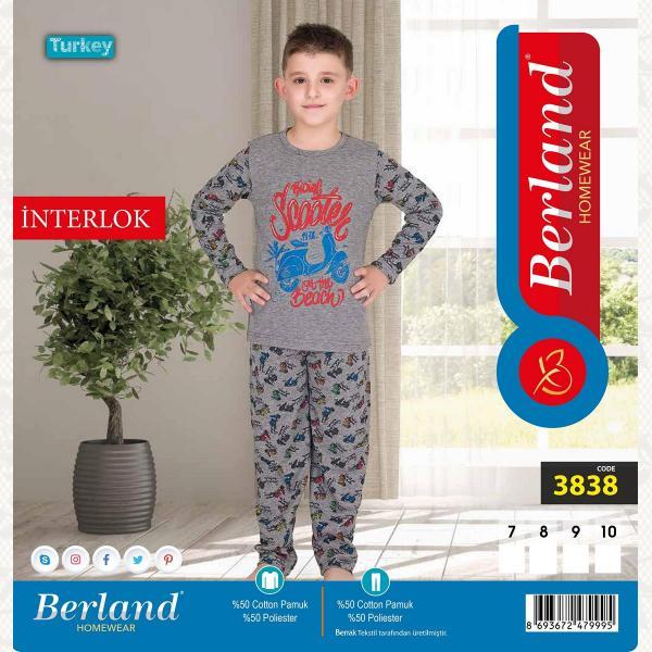 Домашний костюм для мальчика, цвет стандарт с фото, 3838