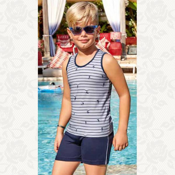 Домашний комплект для мальчика, цвет серый с фото, 5514