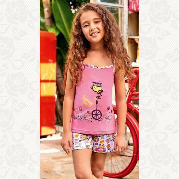 Домашний комплект для девочки, цвет розовый с фото, 5556