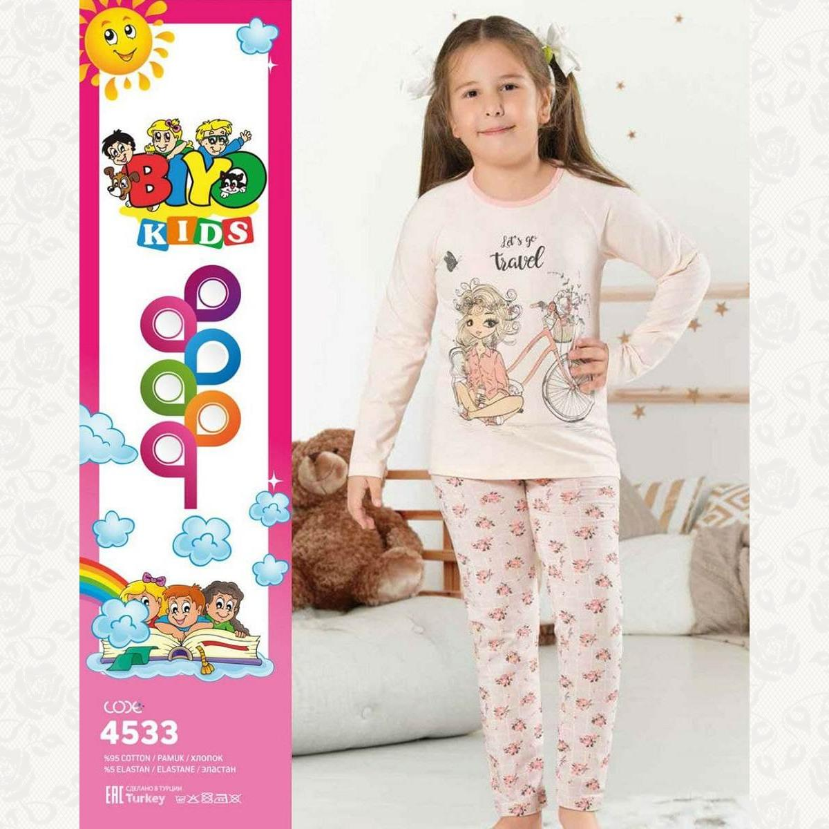 Пижамы для девочек с 3 до 12 лет в ассортименте, цвет ассорти, 5 шт.