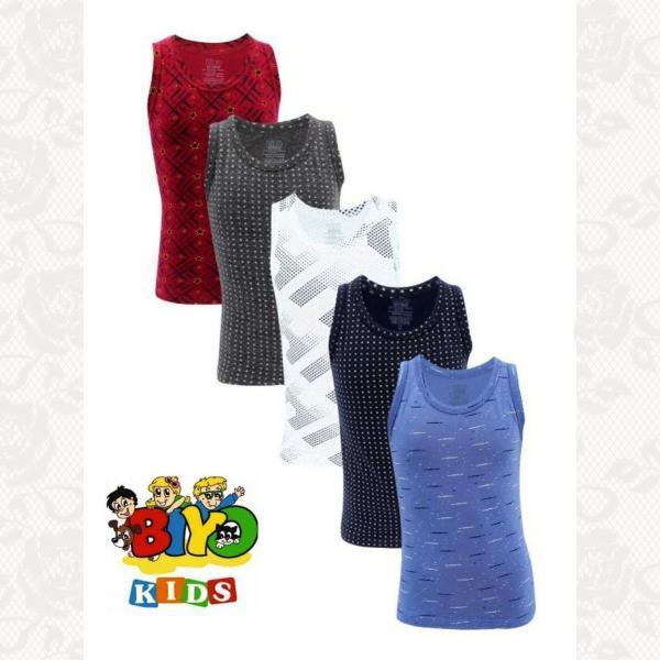 Майка для мальчиков с 3 до 12 лет в ассортименте, цвет ассорти, 5 шт., 9