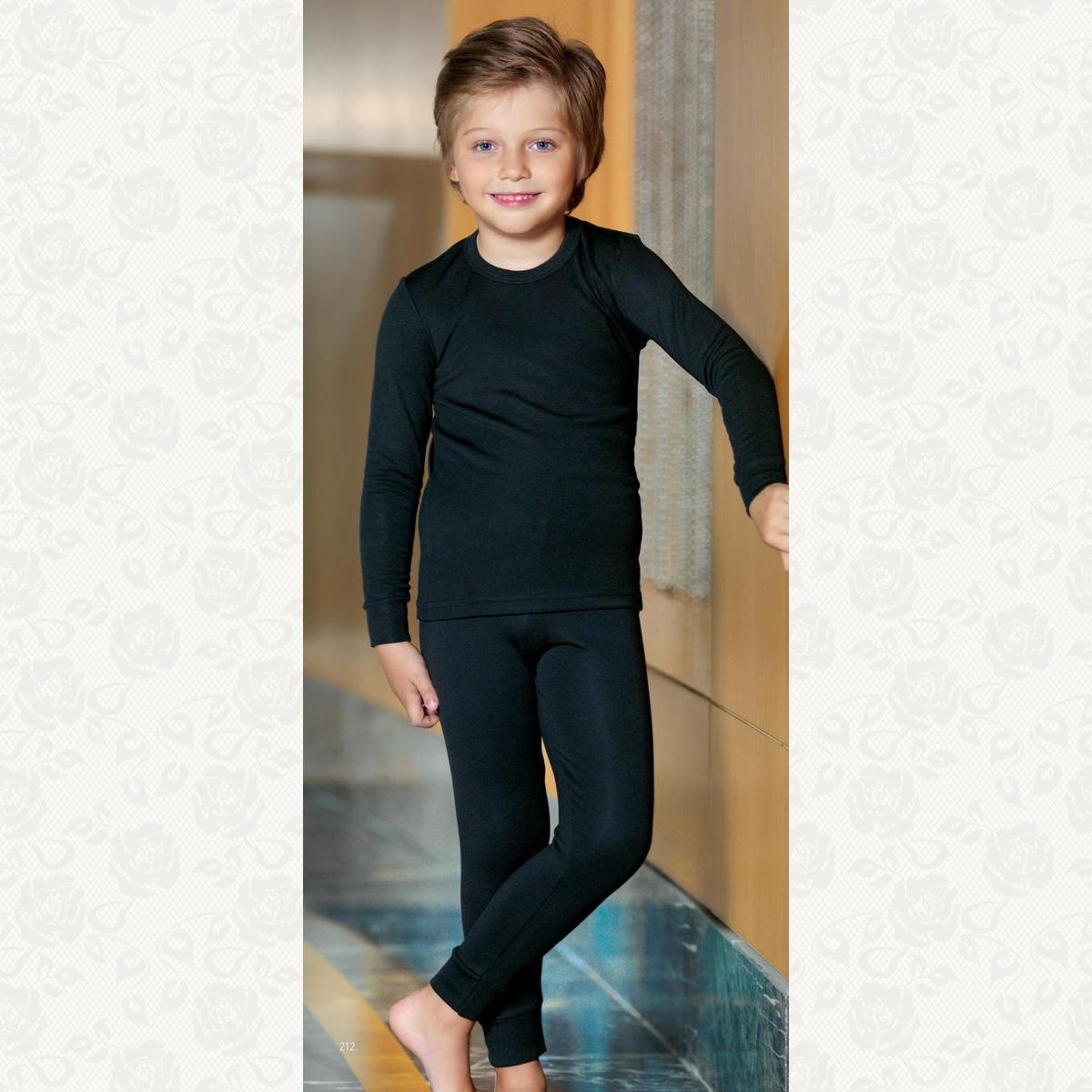 Термоштаны для мальчиков, цвет черный