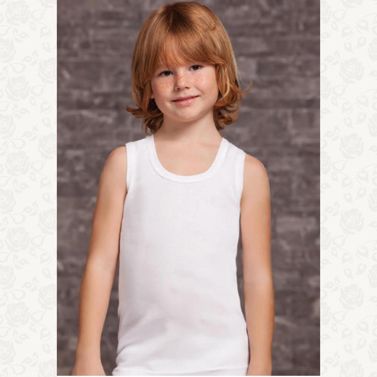 Майка для мальчика размер от 0 до 4, цвет белый, 6 шт.