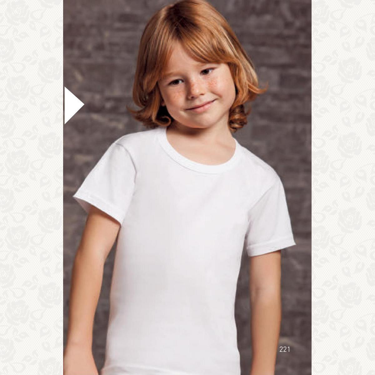 Футболка для мальчиков и девочек размеры от 0 до 4, цвет белый, 6 шт.