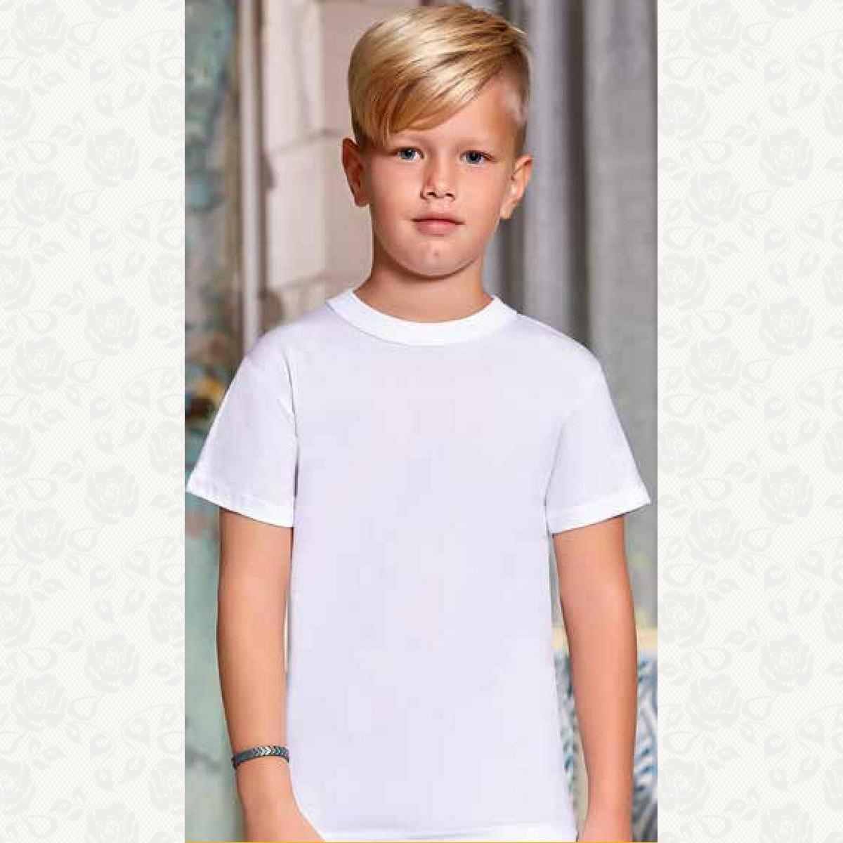 Футболка для мальчика размер от 1 до 4, цвет белый, 6 шт.