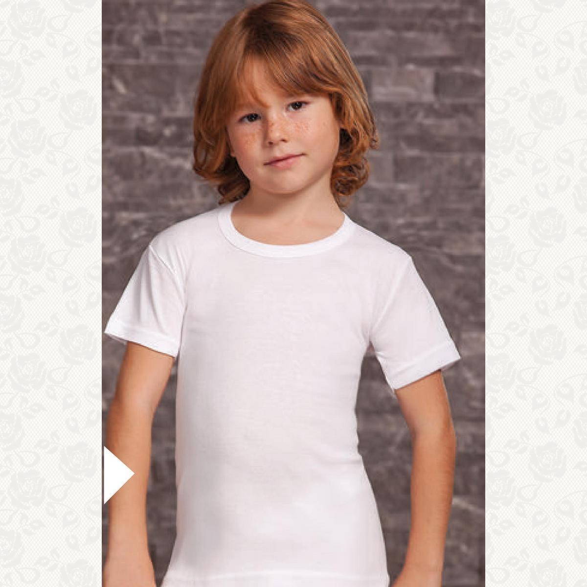 Футболка для мальчиков и девочек размер от1до 4, цвет белый, 6 шт.