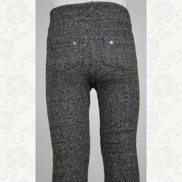 Брючные лосины для девочек с кармашками, цвет серый, 5 шт., 955