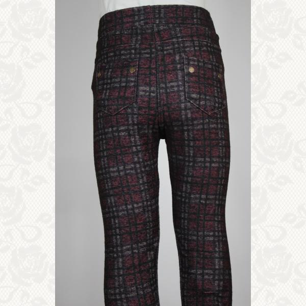 Брючные лосины для девочек с кармашками, цвет бордо, 5 шт., 035