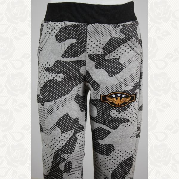 Спортивные штанишки на флисе с манжетиком, цвет серый, 5 шт., 0496